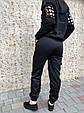 Брюки карго женские с карманами  (черные), фото 5