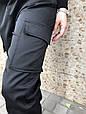 Брюки карго женские с карманами  (черные), фото 6