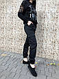 Брюки карго женские с карманами  (черные), фото 4