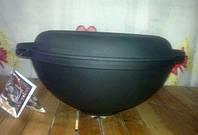 Кастрюля вок 5,5л с крышкой сковородкой, фото 1