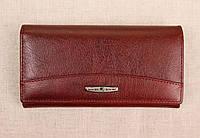Женский кожаный кошелек Kochi бордовый 515 DR, фото 1