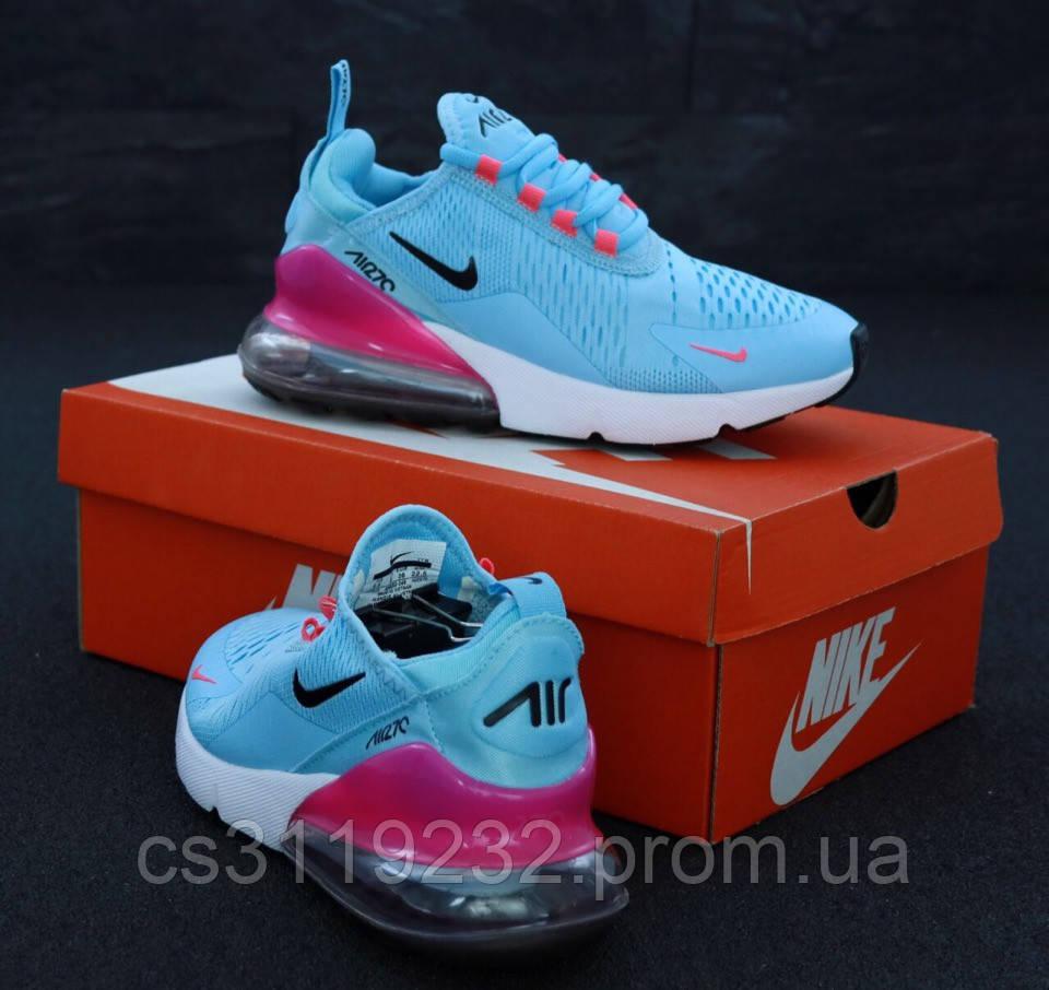 Женские кроссовки Nike Air Max 270 (голубые)