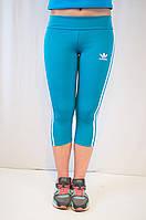 Спортивные женские капри голубого цвета Adidas