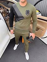 Спортивный костюм BALMAIN D8086 темно-зеленый