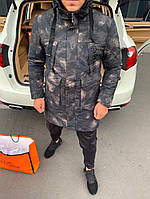 Куртка мужская Supreme D8164 темная камуфляжная