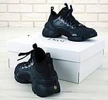 Кроссовки женские DIOR 31344 черные, фото 3