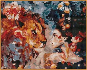 Алмазна вишивка 40×50 див. Babylon Ароматний поклик Художник Димитра Мілан (ST-965)