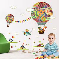 """Наклейка на стену """"Воздушные шары"""" в ванную, детскую комнату, (лист 90*30см). Виниловая, интерьерная."""