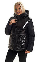Модная зимняя куртка с капюшоном размер 44-50, фото 1