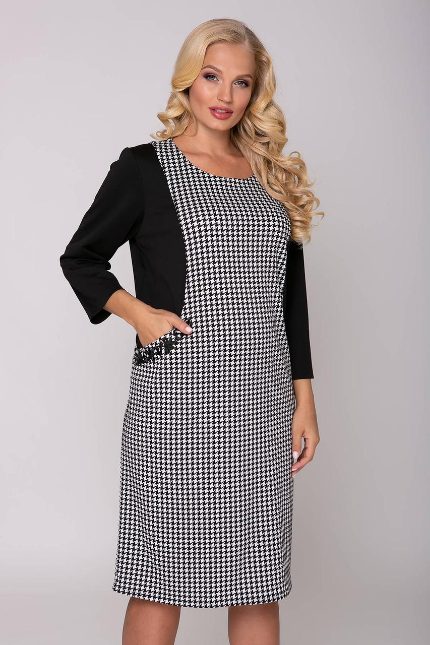 Элегантное женское платье с эффектом зрительной корекци с 54 по 62