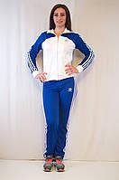 Модный женский спортивный костюм Adidas из ластика большие размеры батал.