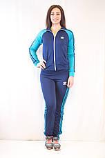 Модний жіночий спортивний костюм Adidas з ластику різні кольори, фото 3