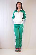 Модный женский спортивный костюм Adidas из ластика разные цвета, фото 3