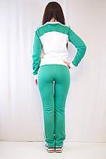 Модный женский спортивный костюм Adidas из ластика разные цвета, фото 2