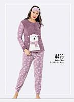 Пижама женская Fawn Welsoft-Polar 4456 пушистая фиолет,розовый,серый,темно синий
