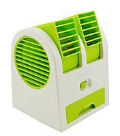Мини-кондиционер вентилятор Mini Fan RIAS HB-168 Green (3_6889)