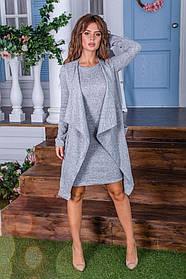 Женский костюм ангора софт кардиган и платье норма и батал