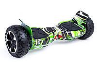 "Гироборд 8.5"" RIAS HM Tao Tao Cамобаланс, Led, Bluetooth, сумка Green Graffiti (3_6820)"