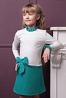 """Детское платье """"Камила"""" 134 Бирюзовый"""