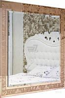 Зеркало Бусел 1000x1000 мм золотой T80358086