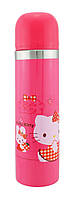 Детский металлический термос RIAS Hello Kitty с кроликом 500мл Pink (3_4061), фото 1