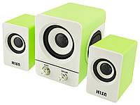 Колонки для ПК Hisn H1 2.1 USB Green (3_00108)