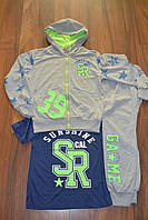 Трикотажные спортивные костюмы тройки для мальчиков.Размеры 116-146 см.Фирма CROSSFIRE, фото 1