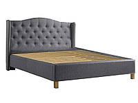 Ліжко двоспальне Signal Aspen 160x200 сіре/дуб TAP. 23
