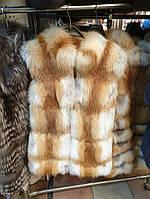 Жилет из лисы, натуральный мех
