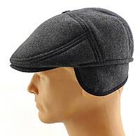 Реглан мужские кепки остался 56 57 58 59 60 размер зимняя теплая с ушами утепленная серый елочка кепка