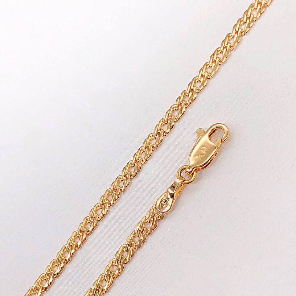 "Браслет Xuping Jewelry 20 см х 3 мм ""Ромб"" медицинское золото, позолота 18К. А/В 4280"