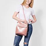 Рюкзак жіночий сумка шкіряна з клапаном. Трансформер з натуральної шкіри (бордовий), фото 2