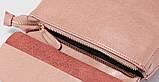Рюкзак жіночий сумка шкіряна з клапаном. Трансформер з натуральної шкіри (бордовий), фото 8