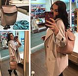 Рюкзак жіночий сумка шкіряна з клапаном. Трансформер з натуральної шкіри (бордовий), фото 10