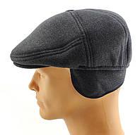 Реглан мужские кепки остался 59 60 размер зимняя теплая утепленная с ушами серый кепка