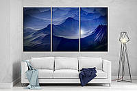 Модульная картина на холсте DK Store 167x99 см Таинственные горы (XL15)