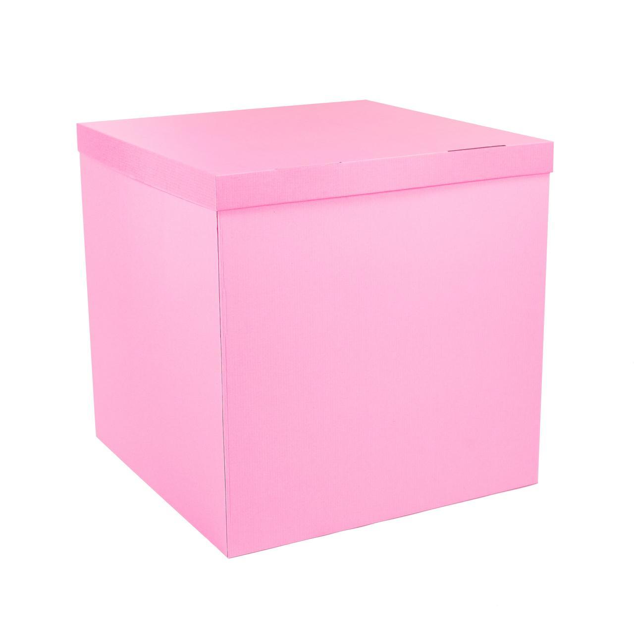 Коробка-сюрприз 700*700*700мм розовая без печати