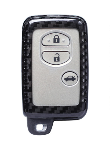 Карбоновый чехол для ключа  Toyota Yaris,Auris,Highlander, Land Cruiser,Rav4,Camry,Corolla, Avalon,Avensis