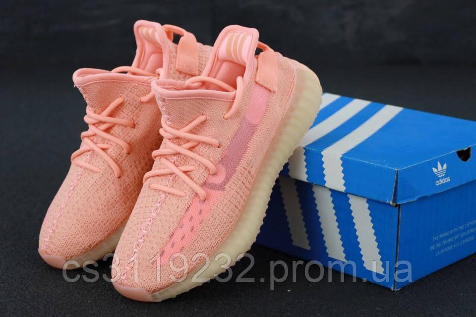 Женские кроссовки Adidas Yezzy Boost 350 (розовые)