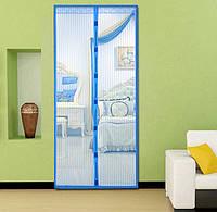 Москитная сетка на магнитах на дверь Magic Mesh Blue (3_6733)