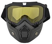 Горнолыжная маска-трансформер RIAS Yellow (3_5339), фото 1