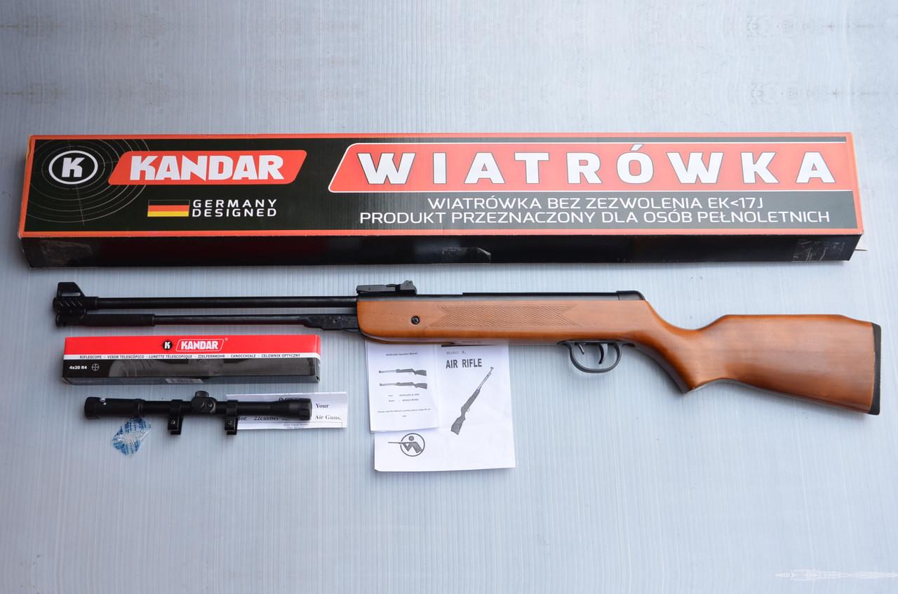 Пневматична гвинтівка PRO Germany WF600 4,5 mm 280 m/s оптика Kandar 4x20