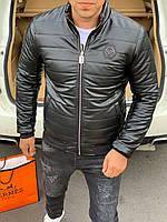 ⚜️ Мужская кожаная куртка Philipp Plein | Чоловіча шкіряна Филипп Плеин (репліка)