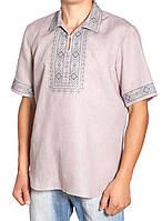 Летняя мужская вышиванка больших рахмеров (L-4XL)