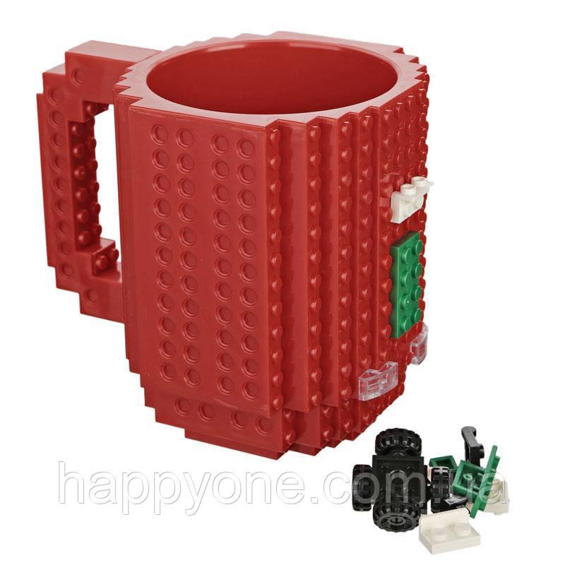 Чашка конструктор (красная)