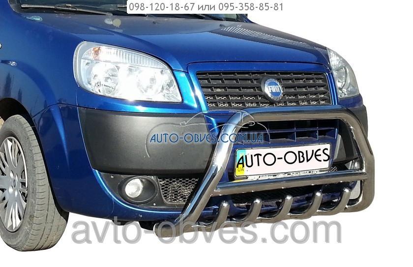 Установка защитного обвеса для Fiat Doblo 2005-