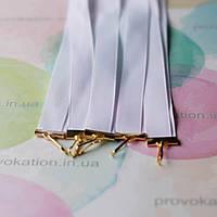 Лента для медалей и наград, Белая, 12мм, 65см