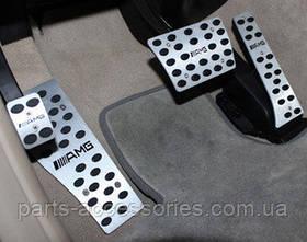 Накладки на педали алюминий AMG Mercedes E W212, 2009-12 автомат