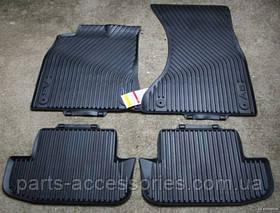 AUDI A5 Коврики резиновые передние задние напольные 2008-14 новые оригинал комплект