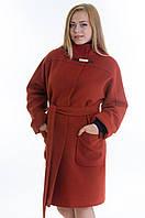 Пальто №20 рыжий р.46-54
